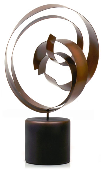 Elegant 101641 Bronze Swirl Table Top Sculptures