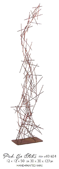 101654 Pick Up Sticks table top sculptures
