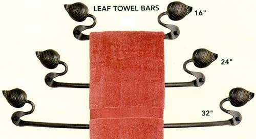 leaf towel bars