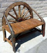 rustic wagon wheel furniture