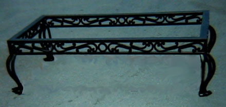 wrought iron coffe table base