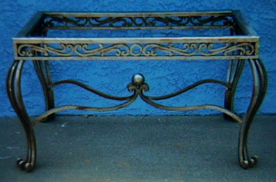 wrought iron table base