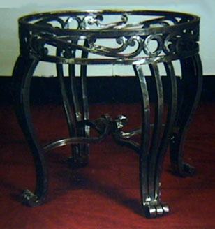 wrought iron round table base