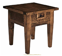 wooden end table,  mesa de lampara