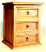 Three drawer night table stand