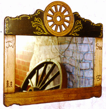 wagon wheel saloon mirror jc083