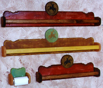Schahrer western cowboy furniture gallery jc094 wooden for Southwestern towel bars