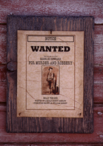 Western Wanted Poster with Billy the Kid jc556btk