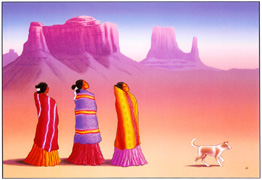 R.C. Gorman Lithograph Navajo Return