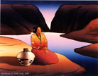 R.C. Gorman Lithograph Women at the Lake