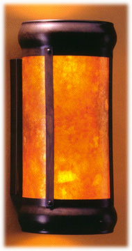 mica Open Top Lantern wall lamp # 129