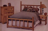 lodge pole furniture, bed, dressers, night stands, tables