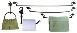 leaf towel bar, iron towelbars