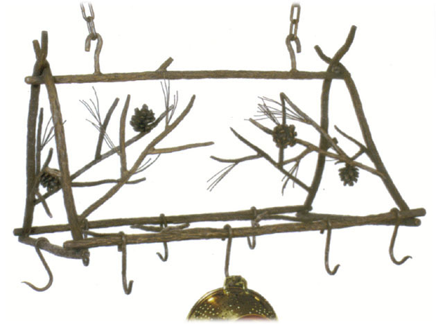 Pine iron Pot Rack
