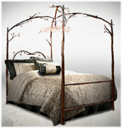Enchanted beds stone country iron works Canopy Beds