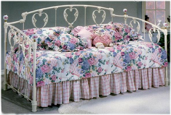 Elliott S Designs Clic Heart 32 Daybed Wrought Rod Iron Beds Antique Bed Reproductions Camas De Hierro Forjado
