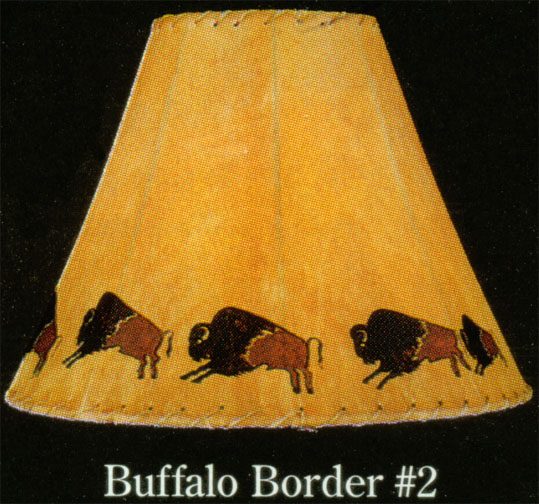 Hand painted limited edition lamp shades buffalo borders native hand painted limited edition lamp shades buffalo borders native american indian artifacts aloadofball Choice Image