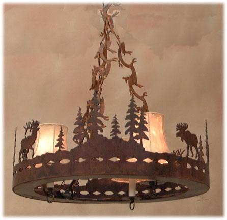 Iw oval diamond elk moose steel chandeliers cut plate rawhide iw oval diamond elk moose steel chandeliers cut plate rawhide shades iw2204 candelabros de hierro mozeypictures Choice Image
